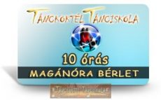 10 órás MAGÁN TÁNCÓRA BÉRLET