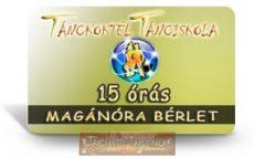 15 órás MAGÁN TÁNCÓRA BÉRLET